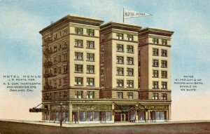 Menlo Hotel, N. E. Corner of Thiteenth and Webster Sts., Oakland, California